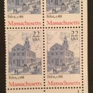US MNH Scott # 2341 Massachusetts Plate Block # 1 (4 Stamps)
