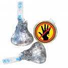 Zombie Party Supplies - Zombie Apocalypse Symbol Labels - Infected Not Allowed