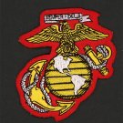 "US Marine Corps Iron On Patch 3 1/4"" x 3 1/4"" Embroidered USMC Eagle Crest"