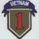 SUBDUED PATCH - US ARMY 1st INFANTRY DIVISION, BIG RED ONE - Vietnam Veteran 3""