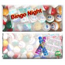 Bingo Night Birthday Favors 12 Personalized Candy Wrappers for Hershey Bar