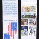 SWEDEN - SC 1677a - Complete Booklet & US SC C117 & Finland SC 768 all MNH 1988