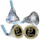 25th Birthday or Anniversary Hershey Kisses Kiss Labels Stickers for Party Favor