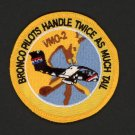 USMC Marines Marine Corps Bronco Pilots Handle Twice As Much Tail Military Patch