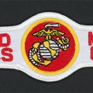 "UNITED STATES MARINE CORPS TAB LOGO PATCH REPRO NEW 6 1/2"" Embroidered Iron On"