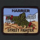 Embroidered Military Patch USMC Harrier Street Fighter NEW VTOL airplane 3 1/4""