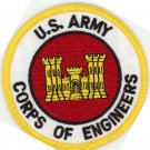 "US Army Corps of Engineers Patch 3"" Round Embroidered Iron-On Patch"