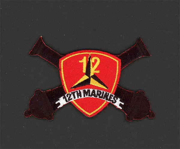 12TH MARINES USMC MILITARY PATCH CAMP SMEDLEY BUTLER ARTILLERY REGIMENT JAPAN .
