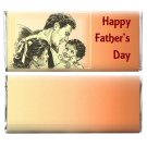 Father's Day Favors 12 Personalized Candy Wrappers for Hershey Bar Gift for Dad