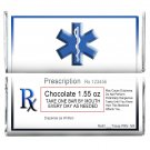 12 Chocolate Prescription Personalized Candy Wrappers for Hershey Bars Humorous