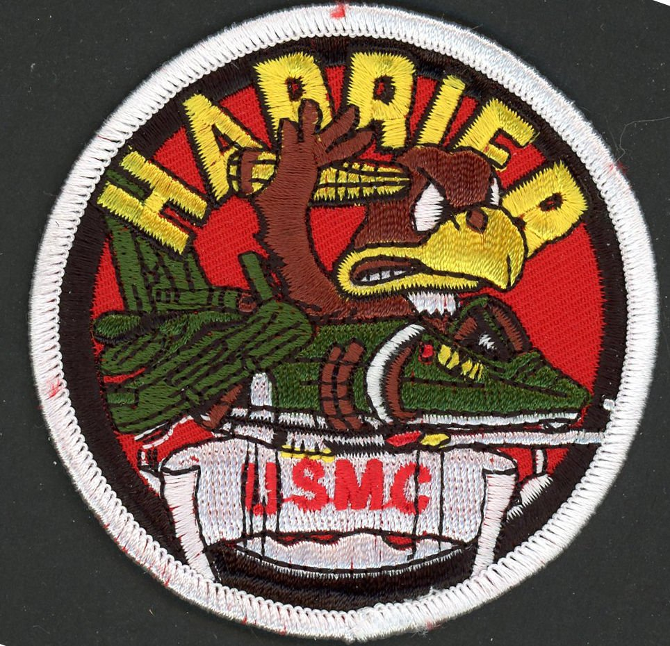 "USMC US Marine Corps Harrier Aircraft Airplane Jet  3"" PATCH IRON ON EMBROIDERED"