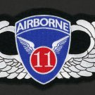 "US Army Military Large Patch 11th Airborne Wings  6 1/2"" x  3 1/2"" Embroidered"