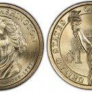 2007-D George Washington Presidential Golden Dollar BU Coin Uncirculated