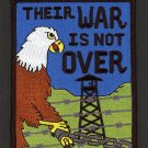 "POW MIA Their War Is Not Over Eagle Embroidered Iron-On Patch 4 1/2"" x 3 1/2"""