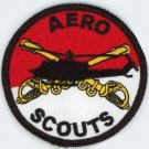 "AERO SCOUTS Military Veteran US ARMY CAVALRY Patch 3"" Iron-On Embroidered"