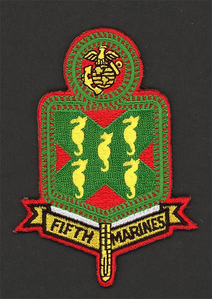 FIFTH MARINES REGIMENT USMC MILITARY PATCHES CAMP PENDLETON CALIFORNIA SOLDIER