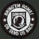 "POW MIA Bring Them Home or Send Us Back 3"" Patch Vietnam Veteran Marines Army"