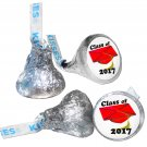 GRADUATION PARTY SUPPLIES 108 HERSHEY KISS KISSES LABELS Class of 2017 Red Cap