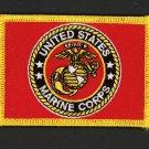 """US MARINES BATTLE US COLORS HAT PATCH USMC LOGO COLOR GUARD 3 1/2"""" IRON-ON"""
