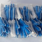 Blue/White Plastic Hand Clappers Pack of 12 Birthday Party Favor Noisemaker