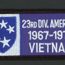 "Vietnam War Patch US 23rd INFANTRY Division 1967-1971 VIETNAM Army 4"" x 2"""