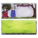 12 Easter Bunny Twins Hershey Candy Bar Wrappers Personalized Glossy Paper Favor