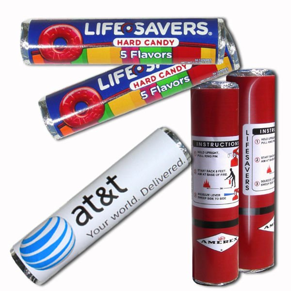 25 Custom Wrapped LifeSavers Candy Rolls, Business Promotions or Party Favors