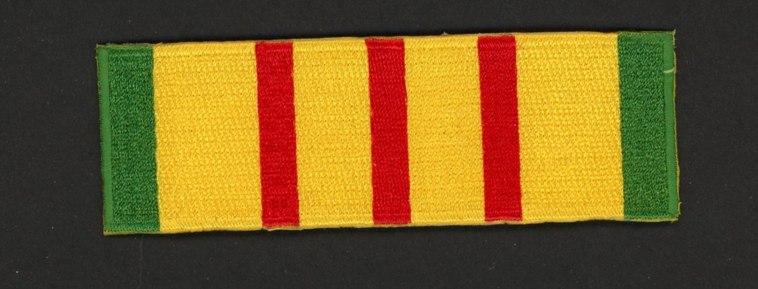 Vietnam Service Ribbon Patch Marines Army Navy Air Force USMC USN USCG USAF 4""