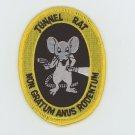 US ARMY TUNNEL RAT  VIETNAM VETERAN PATCH 3' IRON-ON BIKER MILITARY