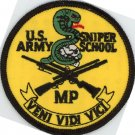 "US ARMY SNIPER SCHOOL 3"" PATCH MP SPECIAL OPS USA SOLDIER RIFLEMAN SCOPE SHOOTER"