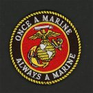 U.S. MARINES - ONCE A MARINE  ALWAYS A MARINE- IRON-ON PATCH Embroidered