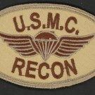 USMC Marine RECON Oval Patch U.S. Marines Semper Fi Desert Marines Vet Iron-On