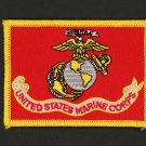 "US MARINES BATTLE US COLORS HAT PATCH USMC FLAG COLOR GUARD 3 1/2"" IRON-ON"