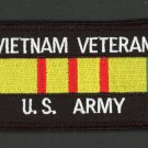 Embroidered Military Patch US Army Vietnam Veteran Service Ribbon Iron-On