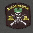 USMC Marine Warrior Iron On Patch Mess With The Best Die Like The Rest Biker Vet