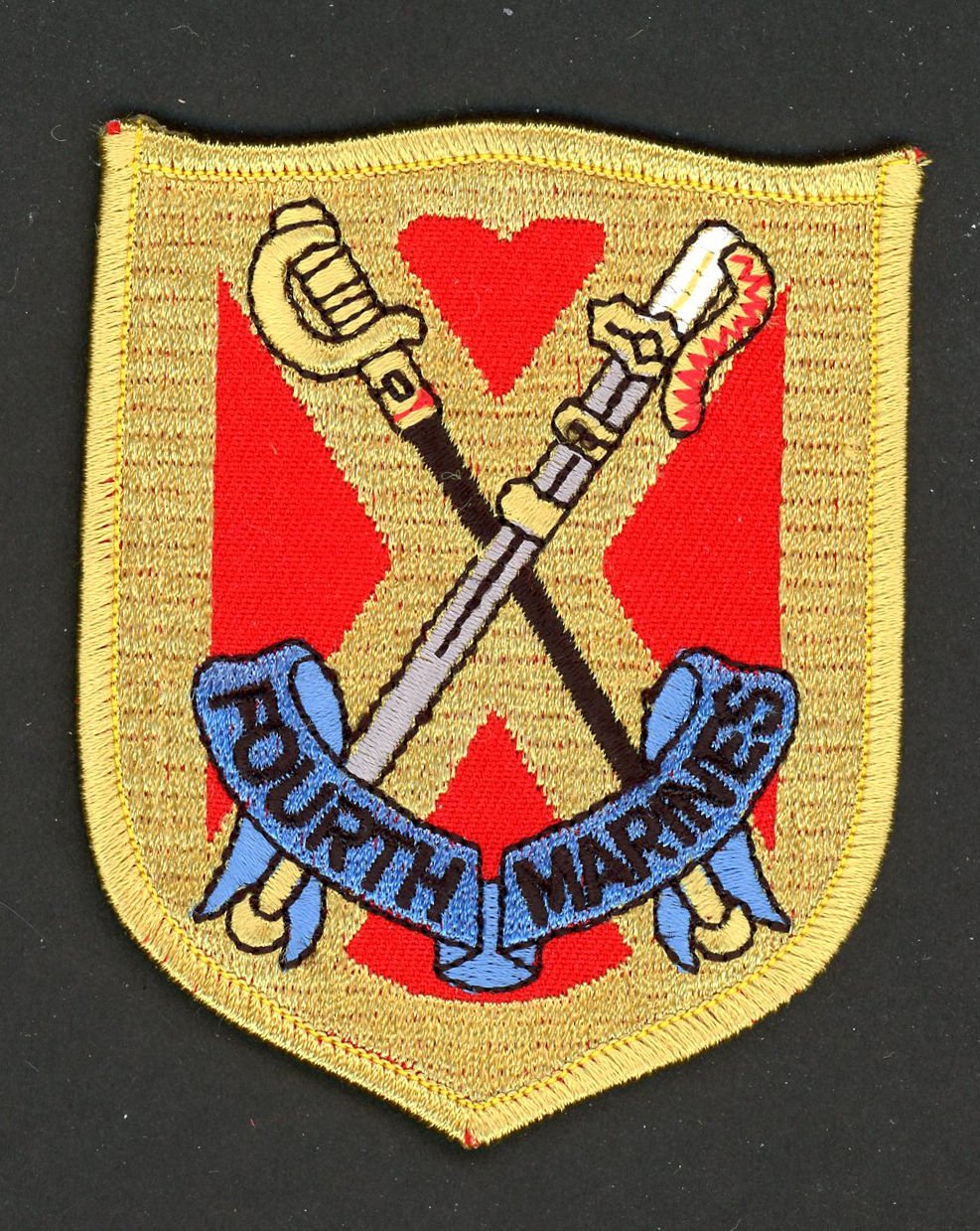 "USMC Marine Corps Patch FOURTH MARINE REGIMENT 4th Embroidered 3 1/2"" Iron-On"