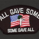 All Gave Some - Some Gave All Embroidered Iron-On Patch KIA Honor Patch 5 1/4""