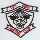 "Vietnam Veteran Viet Cong Hunting Club Patch 3"" Iron-On Army Navy Marines USMC"