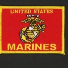 "US MARINES BATTLE US COLORS HAT PATCH USMC LOGO FLAG COLOR GUARD 3 1/2"" IRON-ON"