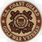"United States Coast Guard GULF WAR VETERAN 3"" DESERT TAN patch US U.S. USCG"