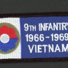 "US Army 9th Infantry Division 1966-1969 Vietnam Patch Iron On 4"" x 2"" Veterans"