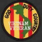 "God Duty Country Vietnam Veteran Patch 3"" Iron-On Navy Army Marines Air Force"