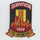 "1968 Tet Offensive Vietnam Survivor Patch 3"" Army Navy Marines Air Force Veteran"