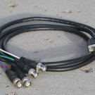 Extron 6' Black VGA-M HD-15 to 5 BNC RGB Cable for HDTV Extension Monitor