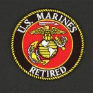 U. S. MARINE CORPS USMC RETIRED EMBROIDERED PATCH SEMPER FI SEW/ IRON ON 3""