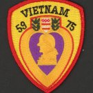 "Purple Heart Vietnam Patch 1959 - 1975 3"" Veteran Army Marines Military USMC"