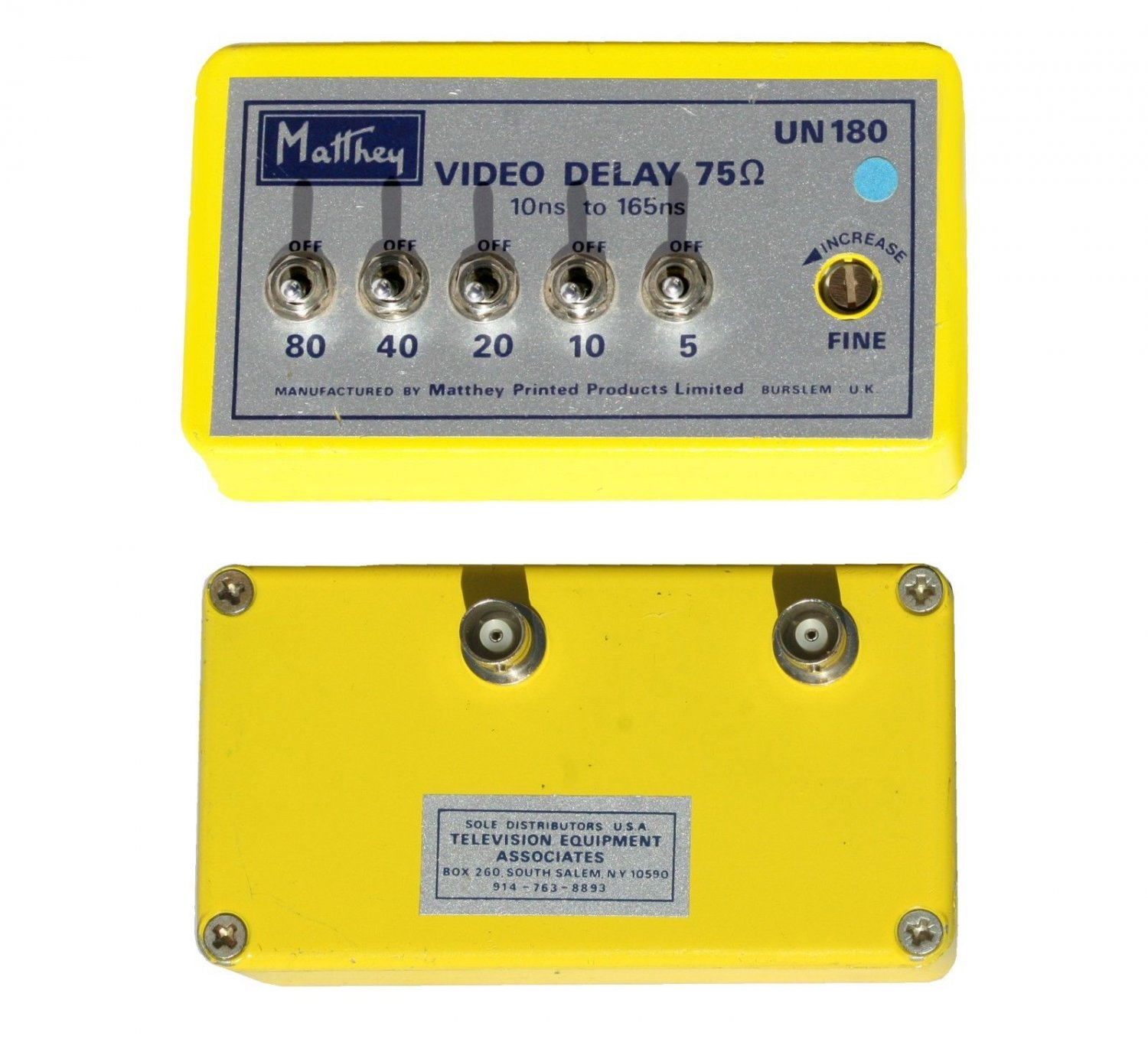 Matthey Video Delay 75 UN180 10ns ro 165ns