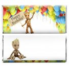 12x Baby Groot Guardians of the Galaxy Vol. 2 Birthday Party Candy Bar Wrappers