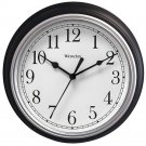 "WESTCLOX 46991A 9"" Decorative Wall Clock (Black)"