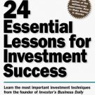 24 Essential Lessons for Investment Success by William J. O'Neil - Paperback Nonfiction